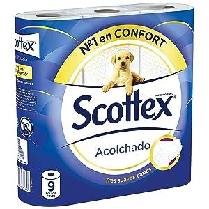 Papel higiénico Scottex Acolchado 9 rollos
