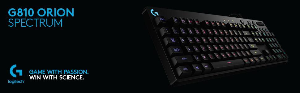 Logitech G810 - Teclado mecánico RGB para Gaming Orion Spark, distribución QWERTY español, Color Negro