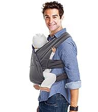 Diseño pensado en ti y en tu bebé. De algodón resistente, esta mochila portabebés