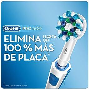 Oral-B PRO 600 CrossAction Cepillo de Dientes Eléctrico Recargable ...