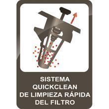Sistema de limpieza rápida del filtro