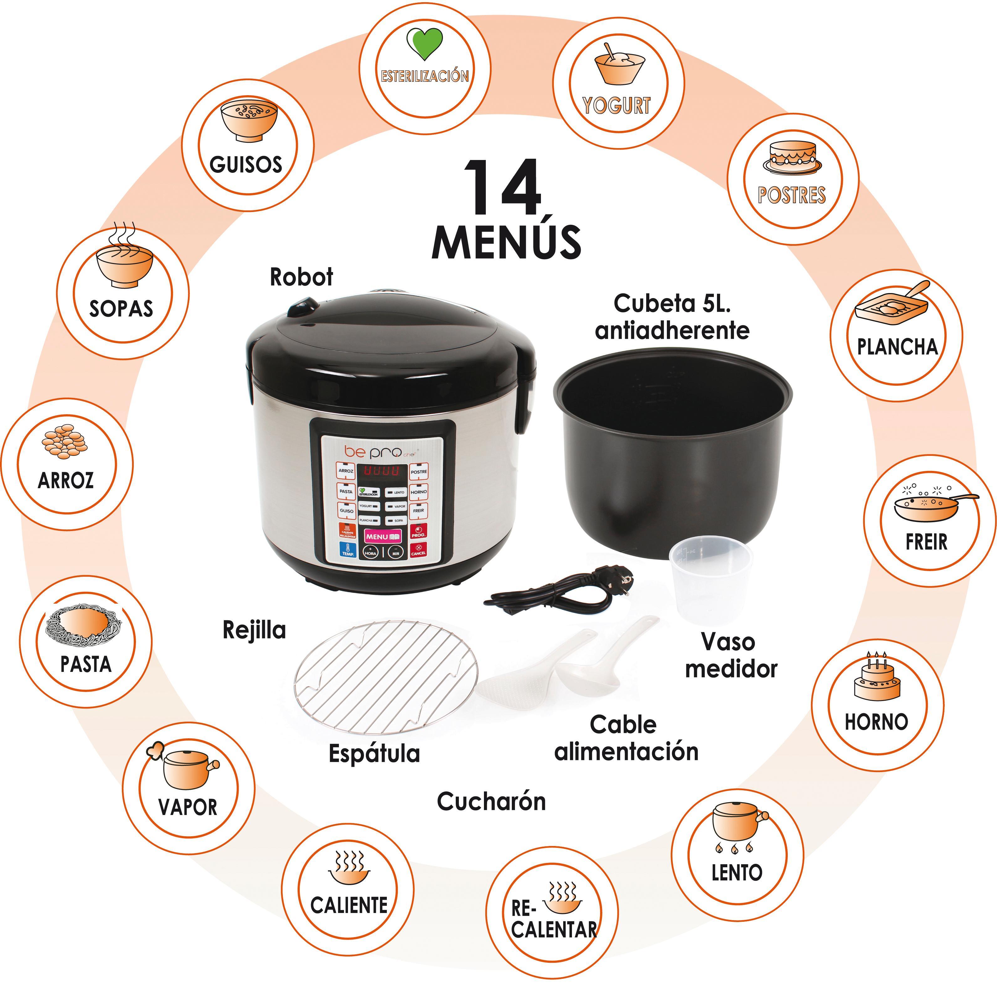 Robot de cocina programable be pro chef premier - Robot cocina amazon ...