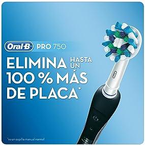 Oral-B PRO 750 CrossAction - Cepillo de dientes eléctrico