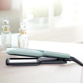 Remington S8700 PROtect - Plancha de pelo, placas con revestimiento de cerámica avanzada con queratina y aceites de argán y macadamia, tecnología ...
