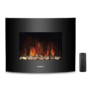 chimenea,calor, hogar, eléctrica, llamas simuladas, piedras, moderno