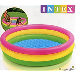 Intex 57412NP - Piscina hinchable 3 aros Sunset 114 x 25 cm: Ferry - 221802 - Piscine 3 Boudins Fond Gonflable: Amazon.es: Juguetes y juegos