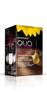 Garnier Olia - Coloración Permanente sin Amoniaco, con Aceites Florales de Origen Natural - Tono Bold Violin - Más de 25 tonos