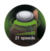 21 velocidades