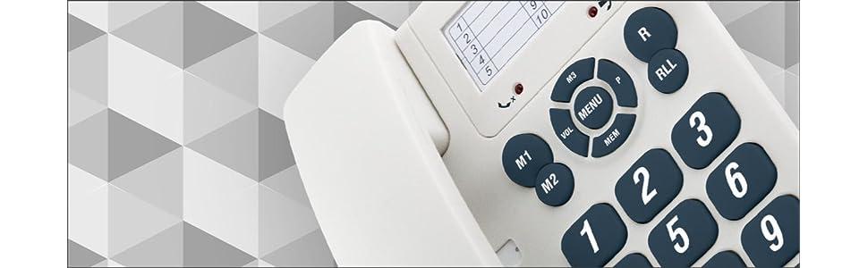 SPC Telecom 3603B - Teléfono Fijo Digital (Control de Volumen, Reloj con Calendario), Blanco: Amazon.es: Electrónica