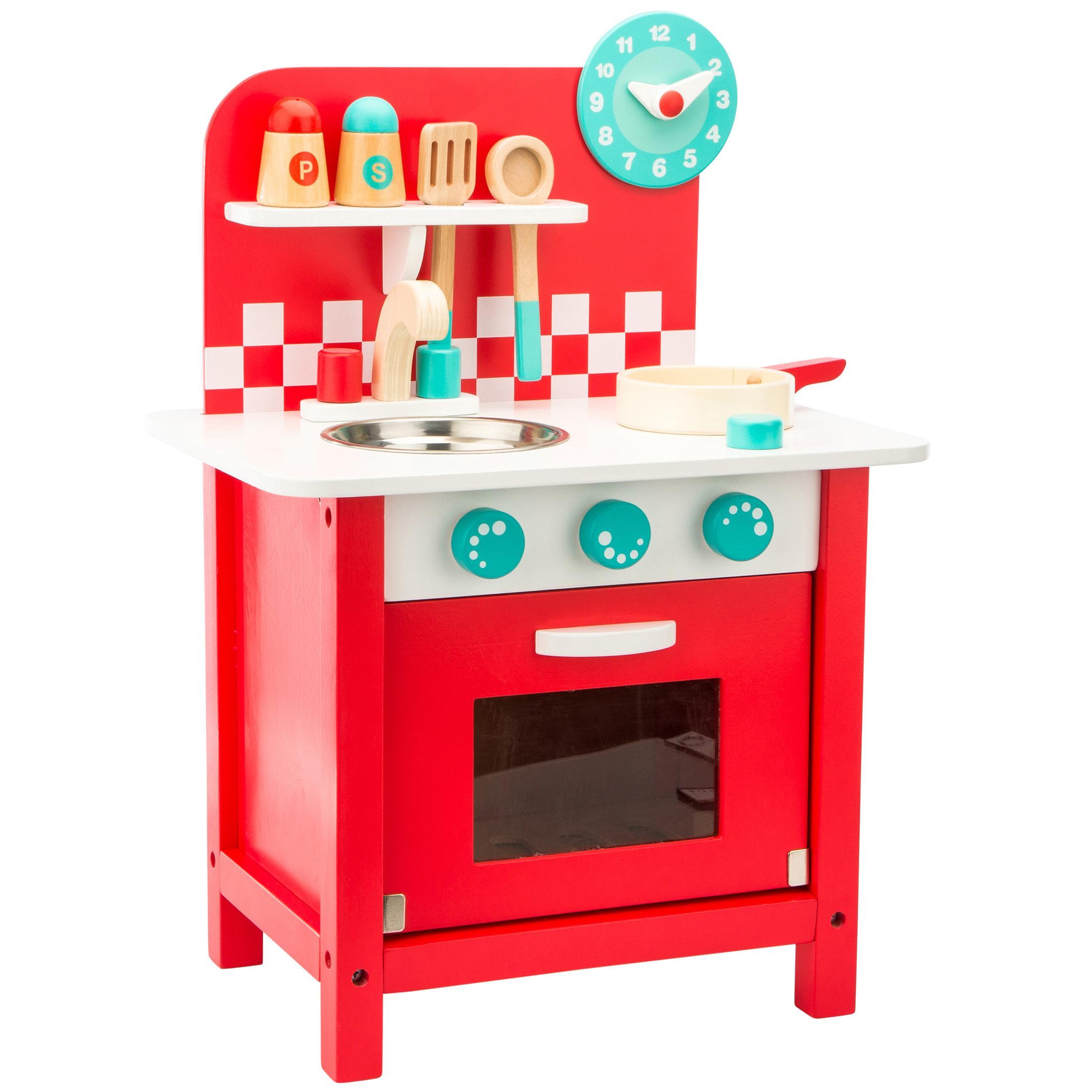 Ultrakidz cocinita de juguete charly de madera con - Cocinas para cocinar ...