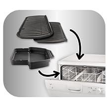 Tefal OptiGrill+ GC712D Placas y bandeja recoge jugos aptas para lavavajillas