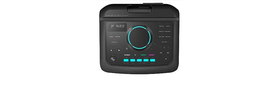 Sony MHCV77DW.CEL - Sistema de Audio (Bluetooth, WiFi, iluminación de Fiesta LED y Efectos de DJ, Resistente a Salpicaduras y Polvo), Negro: Amazon.es: Electrónica