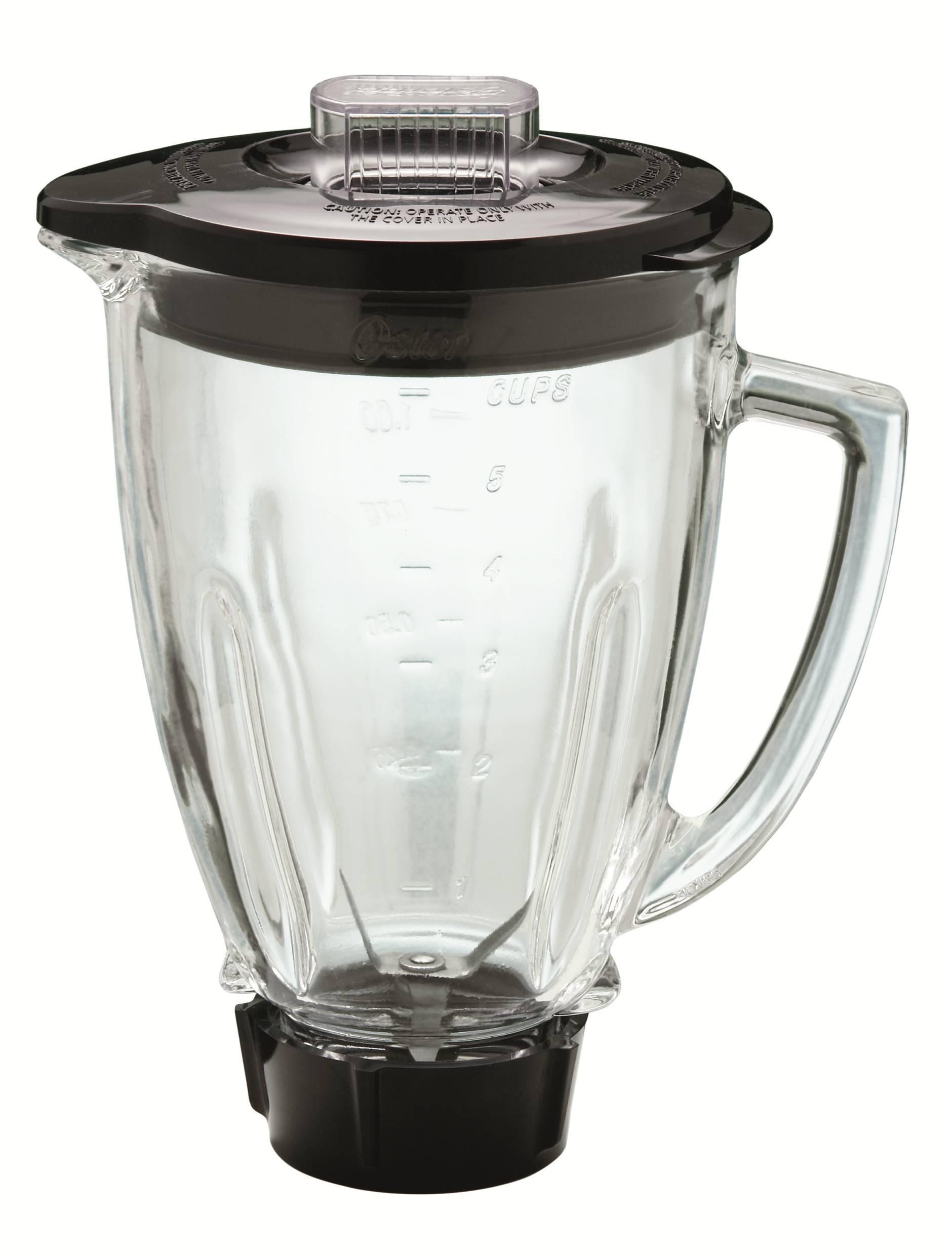 Oster Pro - Batidora de vaso (600 W, jarra de cristal, capacidad de 1.25 L, hierro fundido)