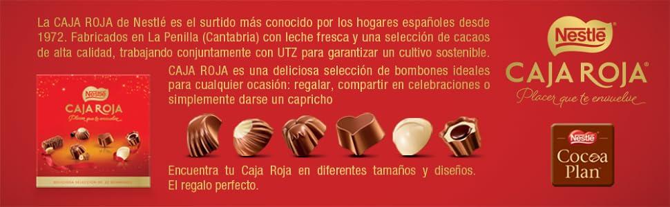 Nestlé Caja Roja Bombones de Chocolate - Estuche de bombones 100 gr