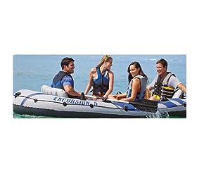 Intex 68325NP - Barca Hinchable Excursion 5 con 2 Remos 366 x 168 ...