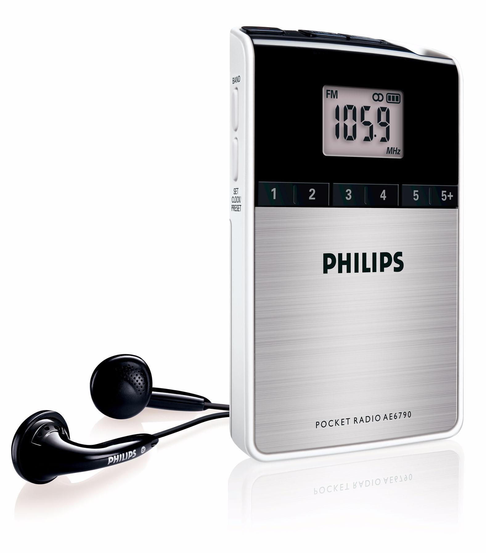 Philips AE6790/00 - Radio de bolsillo (sintonizador FM/OM, reloj ...