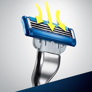 Gillette Mach3 Turbo - Pack de recambios de hojas de afeitar para hombre, 8 unidades