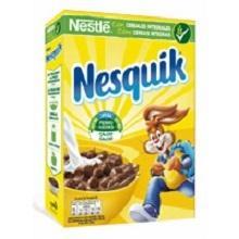 Nesquik, cereales, cereales integrales, desayuno, chocolate, trigo, maíz, vitaminas
