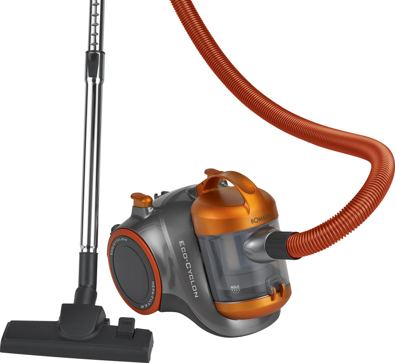 Bomann BS 9012 CB Aspiradora ciclónica sin bolsa, eficiencia energética B, 1000 W, 82.5 Decibelios, Gris y naranja: Bomann: Amazon.es: Hogar
