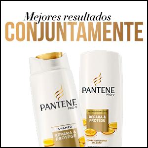 Utilizar conjuntamente el champú y el acondicionador Repara \u0026 Protege de  Pantene Pro,V para un pelo más bonito y visiblemente más sano.