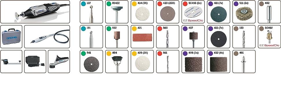 Dremel F0134000JF 4000 (4000-4/65). Multiherramienta, 175 W, 230 V ...