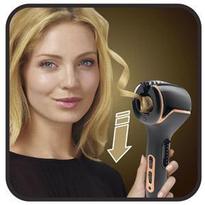 Rowenta Expertise So Curls CF3710 libera el tirabuzón y continua el proceso con el resto del cabello