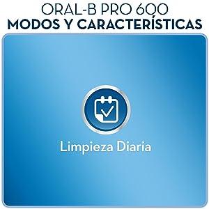 Oral-B PRO 600 CrossAction - Cepillo eléctrico recargable