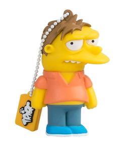 Tribe Los Simpsons Scratchy - Memoria USB 2.0 de 8 GB Pendrive Flash Drive de Goma con Llavero, Color Gris