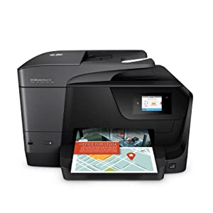 HP Officejet Pro 8710 All-in-One - Impresora multifunción color wifi fax, color negro