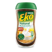 Eko Natural - Una deliciosa mezcla de cereales solubles para beber con leche .