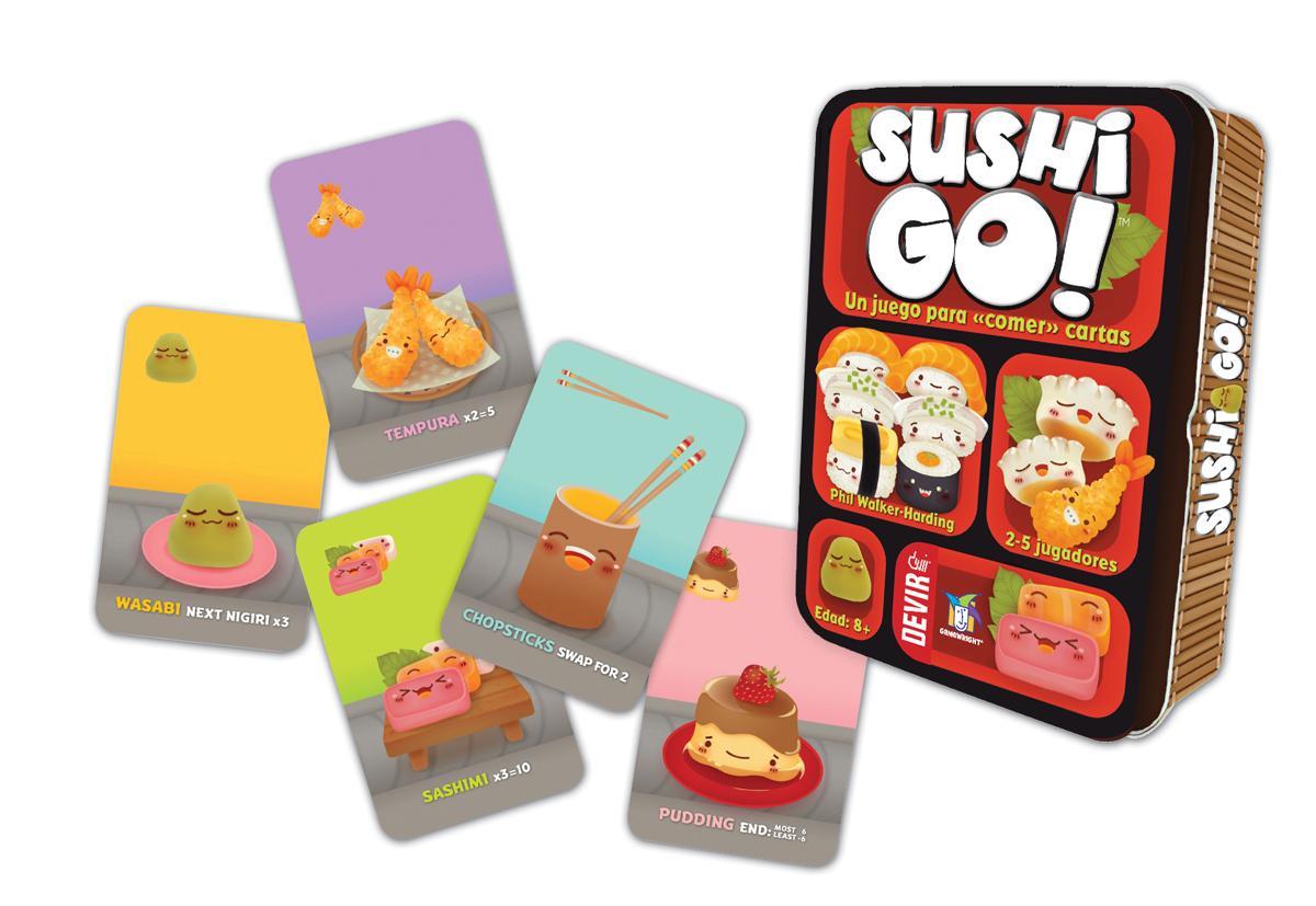 Devir- Sushi Go Juego de Mesa, Multicolor, Miscelanea (BGSUSHI ...