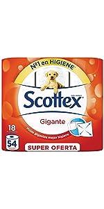 ... Papel higiénico Scottex Gigante 18 rollos