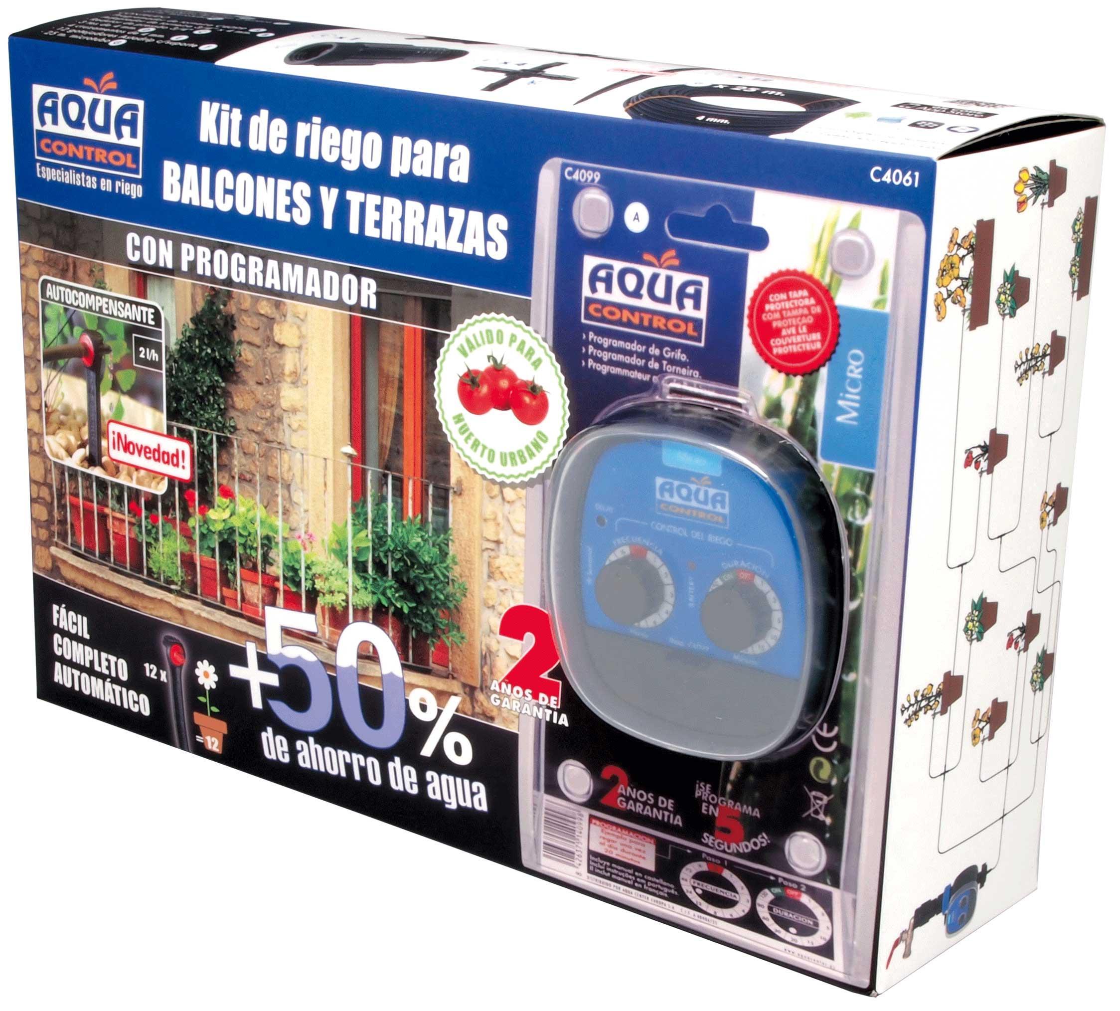 Aqua Control Riego por Goteo para Balcones-Programador C4099N + 12 ...