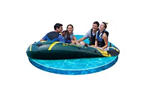 Intex Seahawk 4 - Barco hinchable, máximo 400 kg, 351 x 145 x 48 cm