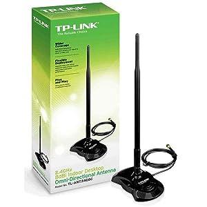 Tp-Link TL-ANT2408C - Antena interior omnidireccional, 8 Dbi, conector hembra RP-SMA, cable de 1.3 metros