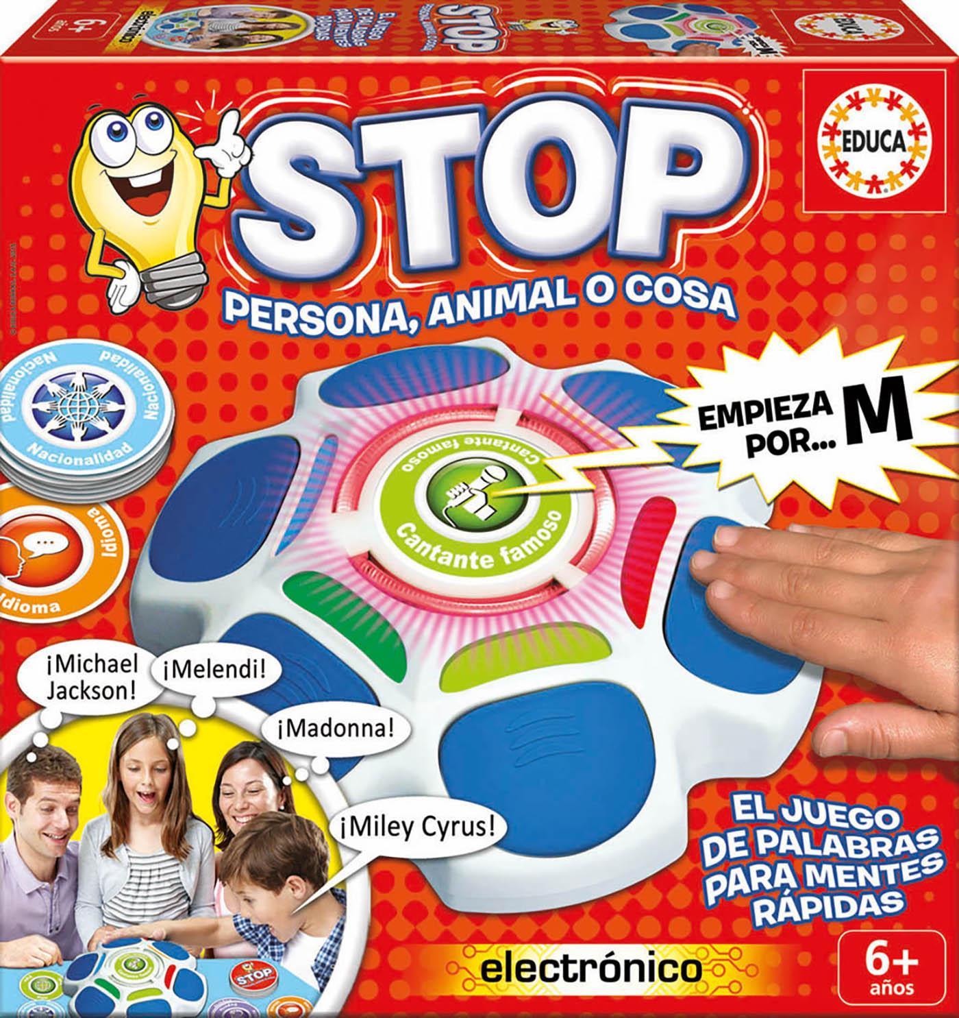 Educa Borras Stop Persona Animal O Cosa Juego De Mesa 16589