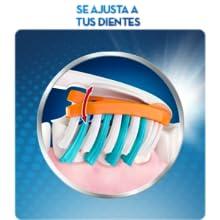El diseño avanzado del cabezal del cepillo incorpora dos laterales flexibles con ajuste independiente que se adaptan a la forma de tus dientes ...