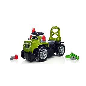 Mega Bloks - Correpasillos 3 en 1 Jeep, Color Verde DBL17: Amazon ...