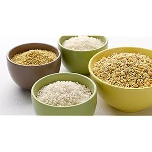 Lékué Recepiente para cocinar arroz, Silicona, Verde, 13.1