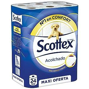 Papel higiénico Scottex Acolchado 24 rollos