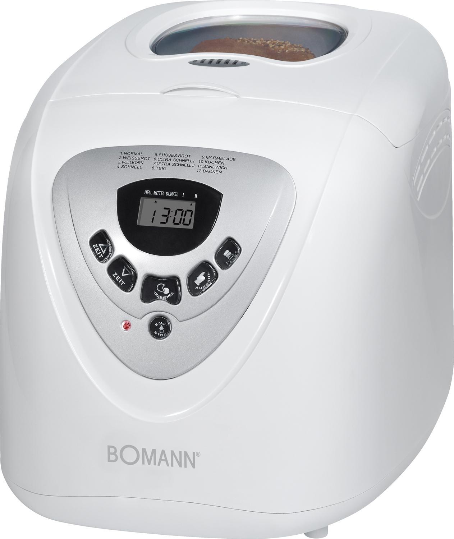 Bomann BBA 566 CB Panificadora programable, 12 programas cocción, 39 Posibilidades, 600 W, 2 litros, Blanco