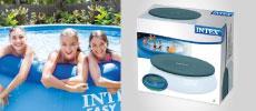 cobertor, cobertor piscina Intex, cobertor agujeros, cobertor piscina aro hinchable, cobertor cuerda