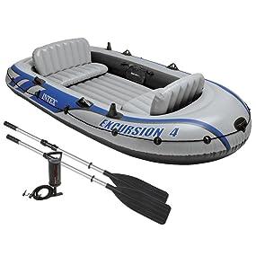 Intex 68324NP - Barca Hinchable Excursion 4 con 2 Remos 315 x 165 ...