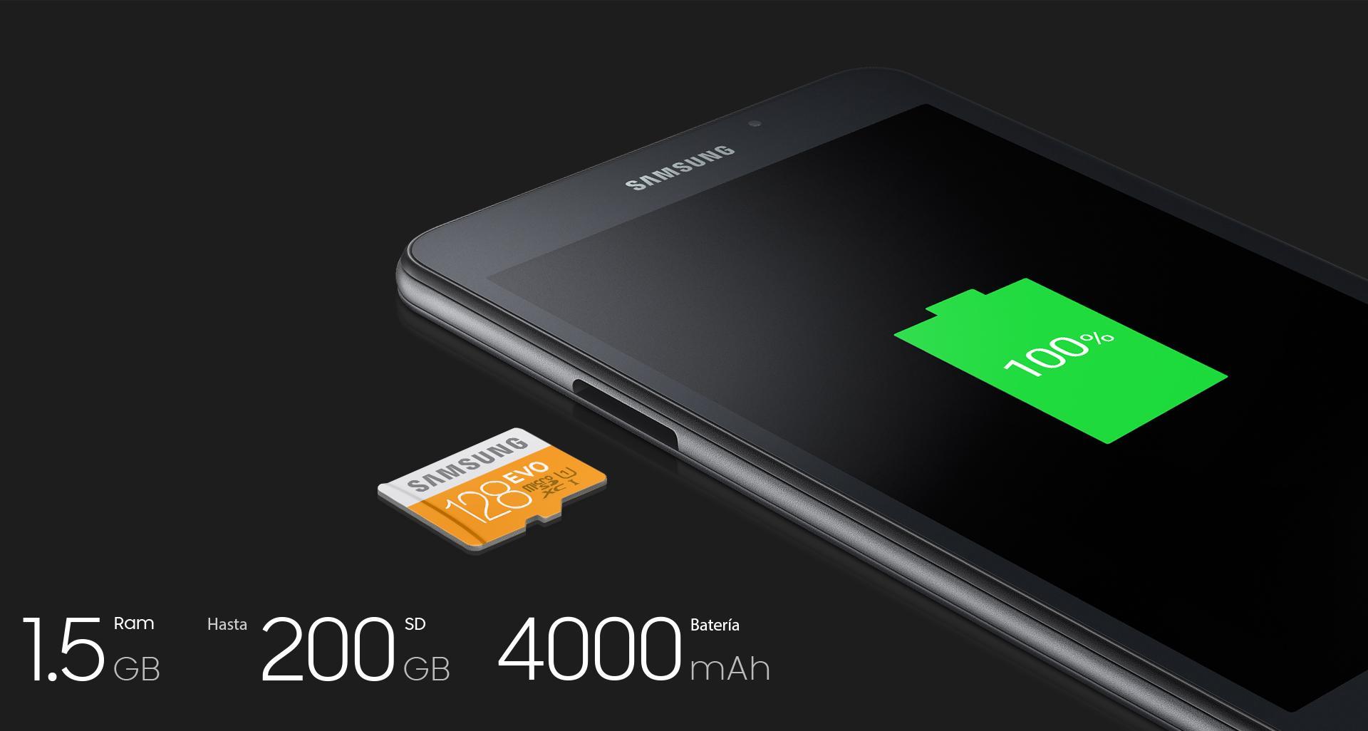 Samsung T280 - Tableta de 7 pulgadas, WiFi, memoria