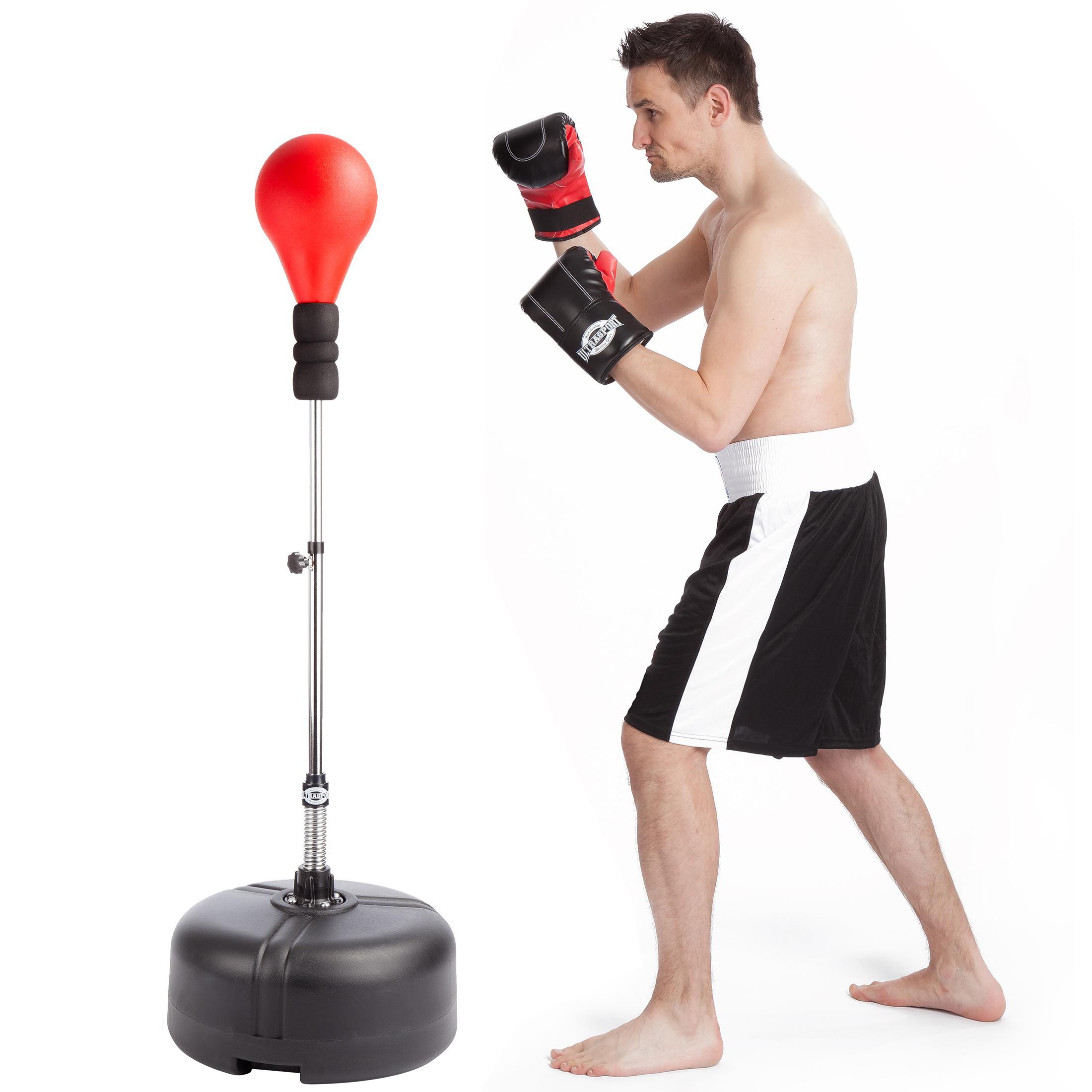 Ultrasport - Pelota de boxeo, con base, altura regulable: Amazon ...