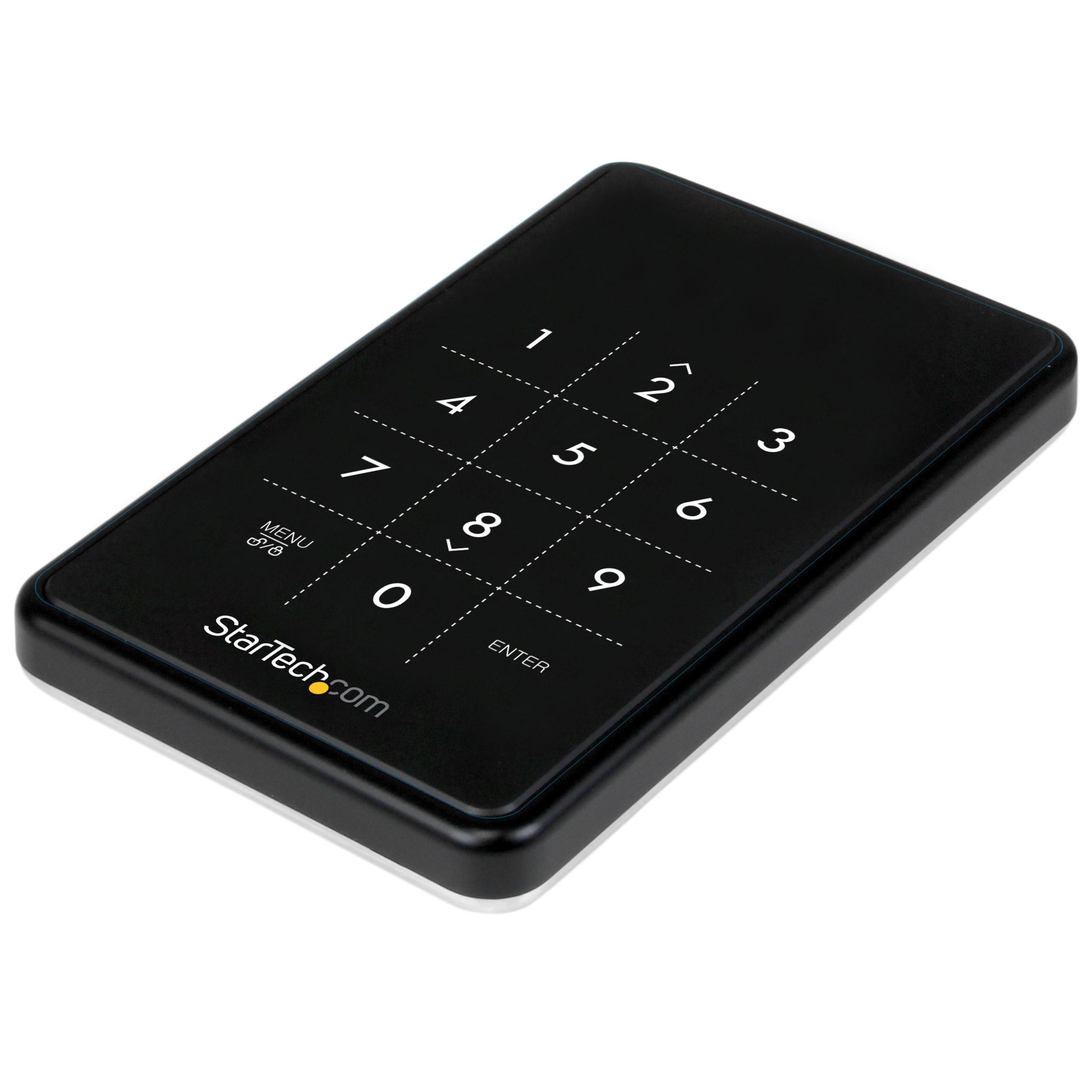 StarTech.com S2510BU33PW - Caja USB 3.0 encriptada con AES 256 para Disco Duro y SSD de 2.5