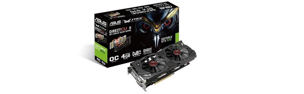 ASUS GeForce STRIX-GTX970-DC2OC-4GD5 - Tarjeta gráfica (4 GB ...