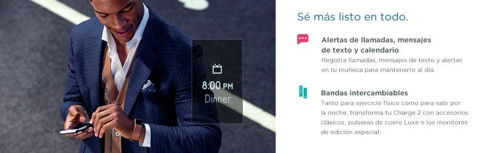 Fitbit Charge 2 Pulsera de Actividad física y Ritmo cardiaco ...