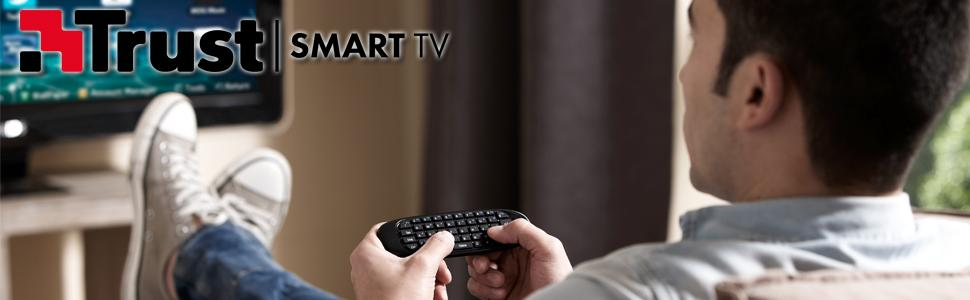 Trust Gesto - Teclado inalámbrico con función de ratón para TV, PC, PS & Media Player: Amazon.es: Informática