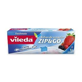 Vileda One Zip - Bolsas de congelación reutilizables con cierre ...